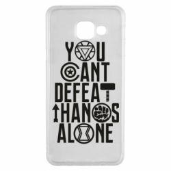 Чехол для Samsung A3 2016 You can't defeat thanos alone