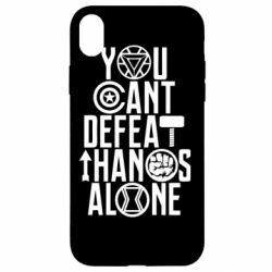 Чехол для iPhone XR You can't defeat thanos alone