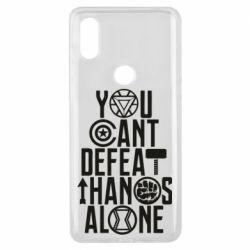 Чехол для Xiaomi Mi Mix 3 You can't defeat thanos alone