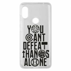 Чехол для Xiaomi Redmi Note 6 Pro You can't defeat thanos alone