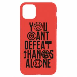 Чехол для iPhone 11 You can't defeat thanos alone