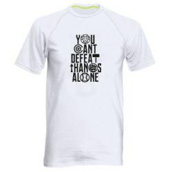 Мужская спортивная футболка You can't defeat thanos alone