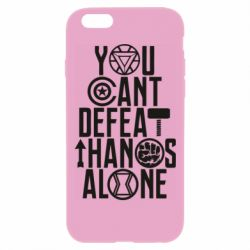 Чехол для iPhone 6 Plus/6S Plus You can't defeat thanos alone