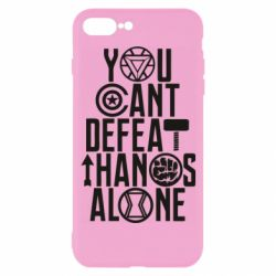 Чехол для iPhone 7 Plus You can't defeat thanos alone