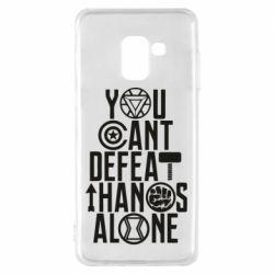 Чехол для Samsung A8 2018 You can't defeat thanos alone