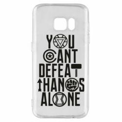 Чехол для Samsung S7 You can't defeat thanos alone