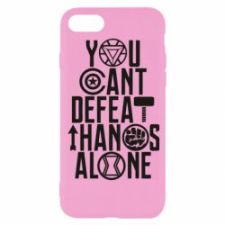 Чехол для iPhone 8 You can't defeat thanos alone