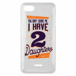 Чехол для Xiaomi Redmi 6A You can't scare me i have 2 daughters