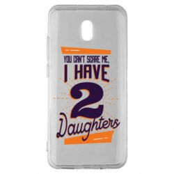 Чехол для Xiaomi Redmi 8A You can't scare me i have 2 daughters