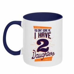 Кружка двухцветная 320ml You can't scare me i have 2 daughters
