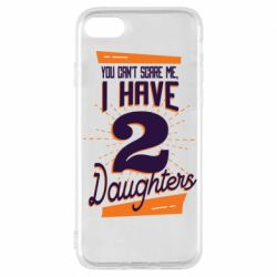 Чехол для iPhone 7 You can't scare me i have 2 daughters