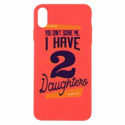 Чехол для iPhone X/Xs You can't scare me i have 2 daughters