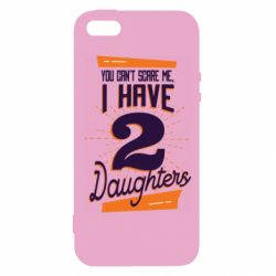 Чехол для iPhone5/5S/SE You can't scare me i have 2 daughters