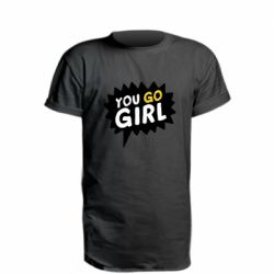 Удлиненная футболка You go girl