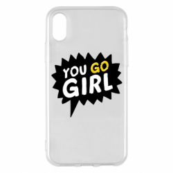 Чехол для iPhone X/Xs You go girl