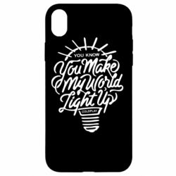 Чохол для iPhone XR You know your make my world light up coldplay