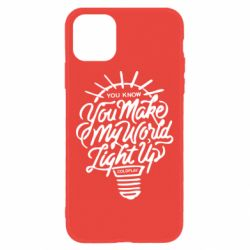 Чохол для iPhone 11 You know your make my world light up coldplay