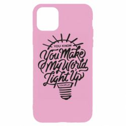Чохол для iPhone 11 Pro You know your make my world light up coldplay