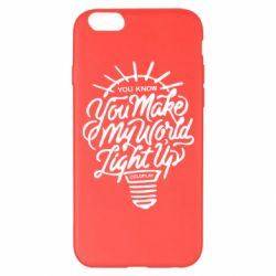 Чохол для iPhone 6 Plus/6S Plus You know your make my world light up coldplay