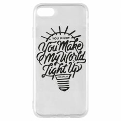 Чохол для iPhone 7 You know your make my world light up coldplay