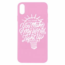 Чохол для iPhone X/Xs You know your make my world light up coldplay