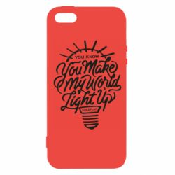 Чохол для iPhone 5 You know your make my world light up coldplay