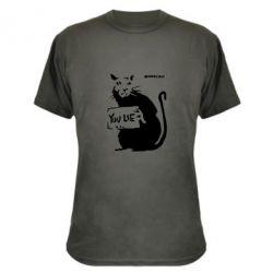 Камуфляжная футболка You Lie Bancsy - FatLine