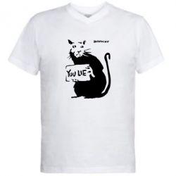 Мужская футболка  с V-образным вырезом You Lie Bancsy - FatLine