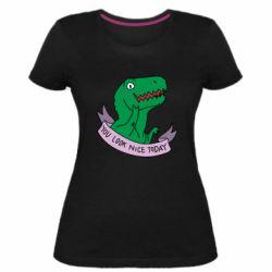 Жіноча стрейчева футболка You look nice today