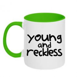 Кружка двоколірна 320ml Young and Reckless