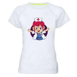 Жіноча спортивна футболка Young doctor
