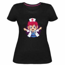 Жіноча стрейчева футболка Young doctor