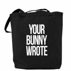 Сумка Your bunny wrote