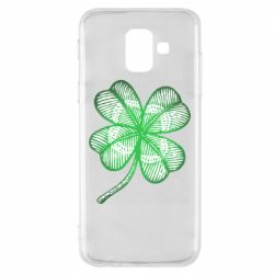 Купить St. Patrick's Day, Чехол для Samsung A6 2018 Your lucky clover, FatLine
