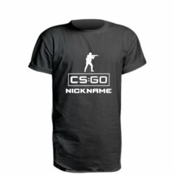 Удлиненная футболка Ваш псевдоним в игре CsGo
