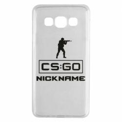 Чехол для Samsung A3 2015 Ваш псевдоним в игре CsGo