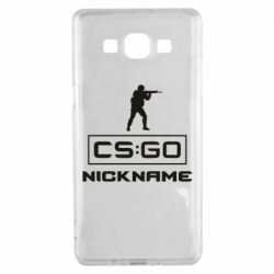 Чехол для Samsung A5 2015 Ваш псевдоним в игре CsGo
