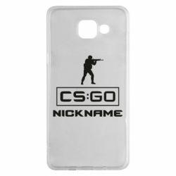 Чехол для Samsung A5 2016 Ваш псевдоним в игре CsGo
