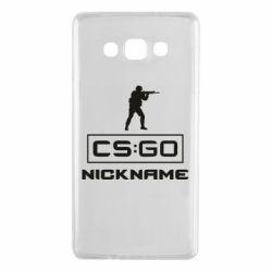 Чехол для Samsung A7 2015 Ваш псевдоним в игре CsGo