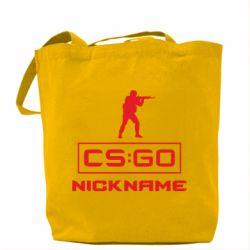 Сумка Ваш псевдоним в игре CsGo