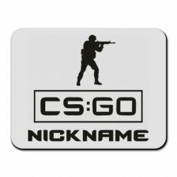 Коврик для мыши Ваш псевдоним в игре CsGo