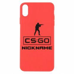 Чехол для iPhone X/Xs Ваш псевдоним в игре CsGo