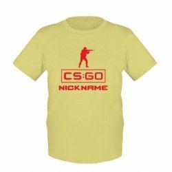 Детская футболка Ваш псевдоним в игре CsGo