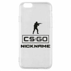 Чехол для iPhone 6/6S Ваш псевдоним в игре CsGo