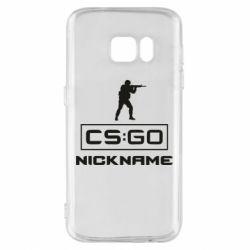 Чехол для Samsung S7 Ваш псевдоним в игре CsGo