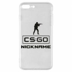Чехол для iPhone 8 Plus Ваш псевдоним в игре CsGo