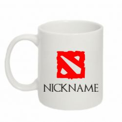 Кружка 320ml Your nickname Dota2