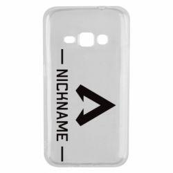Чехол для Samsung J1 2016 Your NickName English only