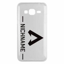 Чехол для Samsung J3 2016 Your NickName English only