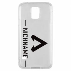 Чехол для Samsung S5 Your NickName English only